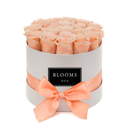 small-round-peach (15 – 20 roses) $180