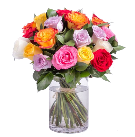 roses-assorted-rose-bouquet-blooms-box-melbourne